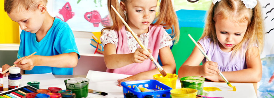 Children draw and paint with their minds not with their hands